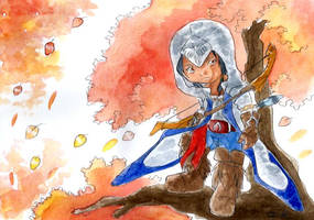 Connor chibi by ZeldaPeach