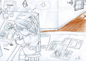 Croquis rubrique BD by ZeldaPeach