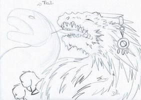 Tustos Dragon by ZeldaPeach
