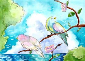 Oiseaux du paradis by ZeldaPeach