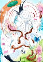 Okami cerisier by ZeldaPeach