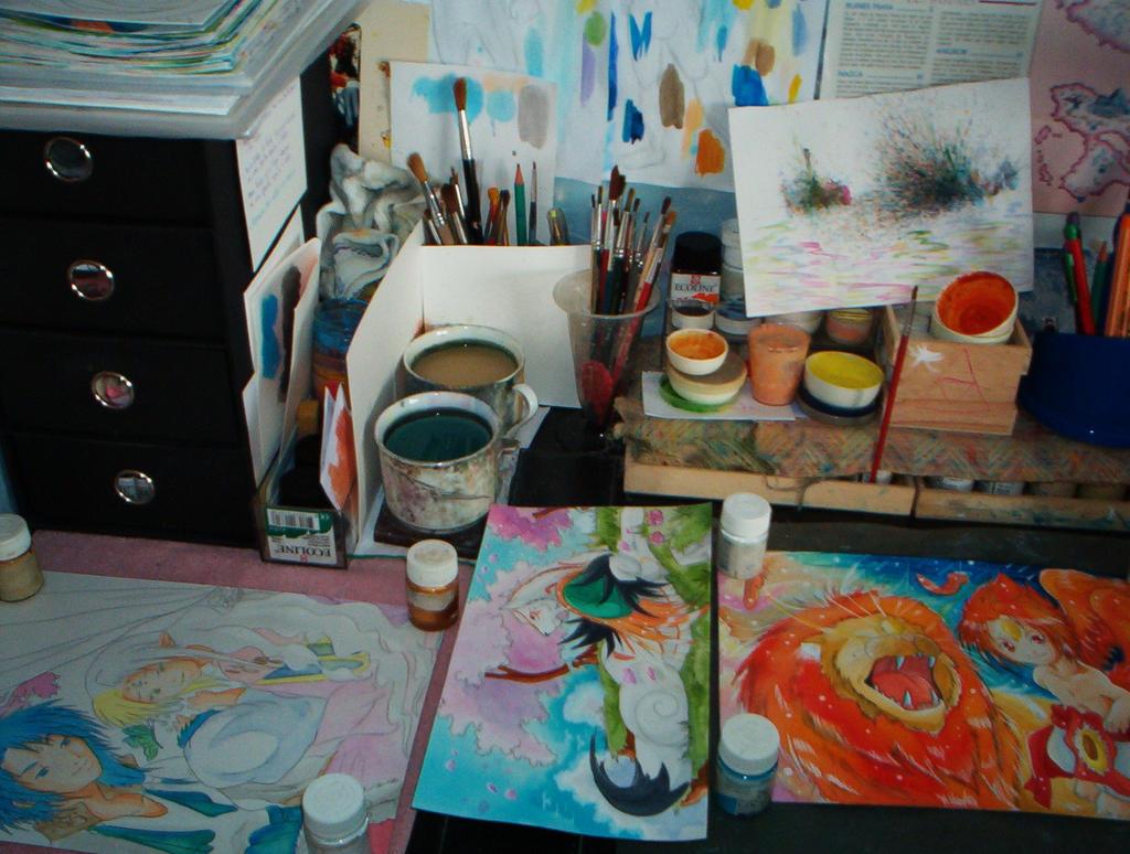 Aquarelle En Cours 001 by ZeldaPeach