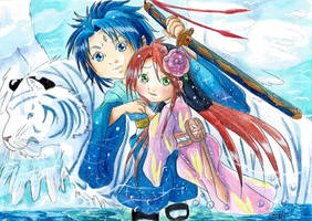 Talos et Louna et le Tigre royal by ZeldaPeach