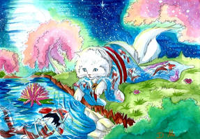 Le chat en kimono by ZeldaPeach