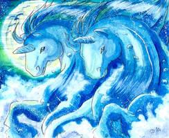 Bleu ocean by ZeldaPeach