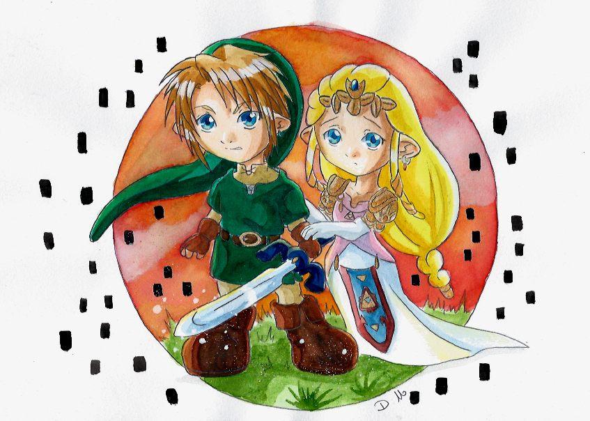 link et zelda tp chibi by zeldapeach - Link Et Zelda