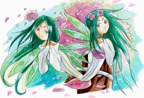 Les fees Sakura by ZeldaPeach