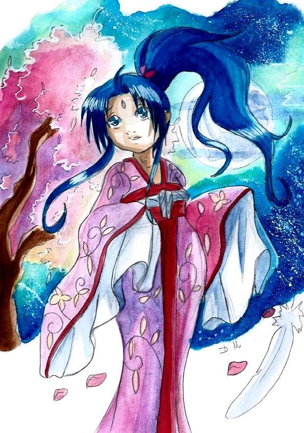 Nayaka kimono aquarelle by ZeldaPeach