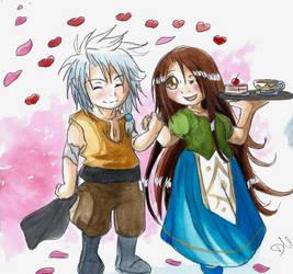 Takumi et la jeune Aubergiste