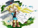 Chibi Link et Zelda Botw by ZeldaPeach