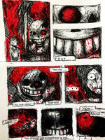 Horrortale Minicomic 1: Meeting with Sans 1/5  by MaskedMidnight