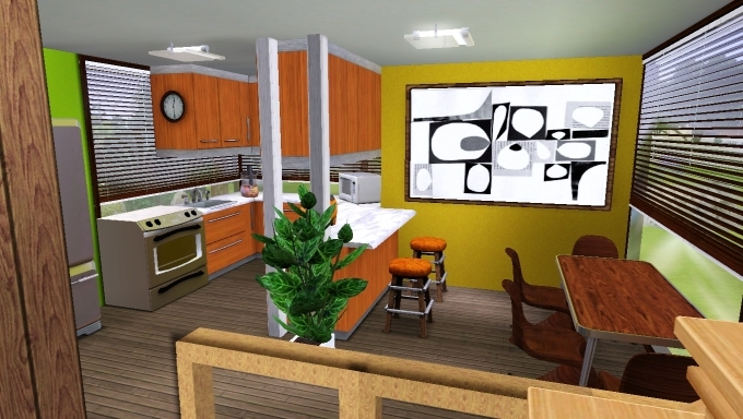 Sims 3 house kitchen by marosstefanovic on deviantart for Sims 2 kitchen ideas