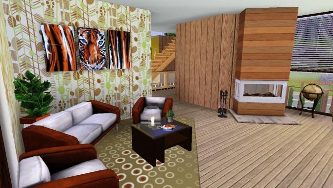 Sims 3 house living room by marosstefanovic on deviantart for Sims 3 living room ideas