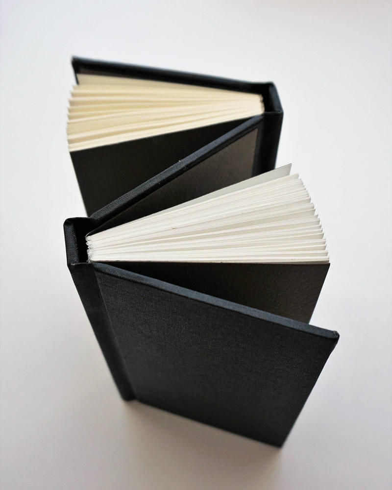 Double sided handmade book by Artshula