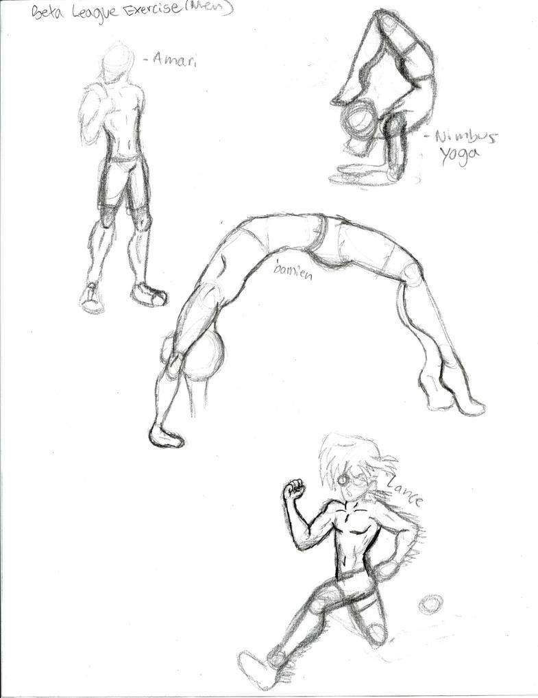 male anatomy and pose sketches by Ziggyomgplz on DeviantArt
