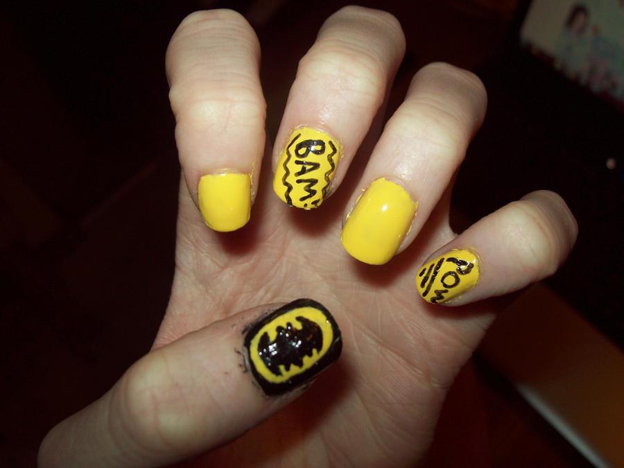 Batman nails by ffishy21 on deviantart batman nails by ffishy21 prinsesfo Choice Image