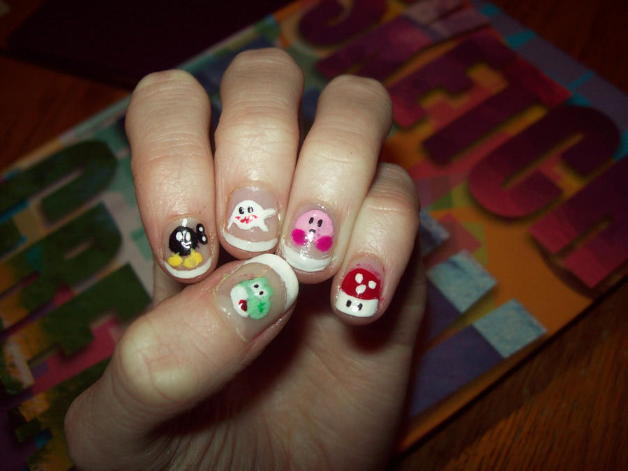 Nintendo Nails by ffishy21 on DeviantArt