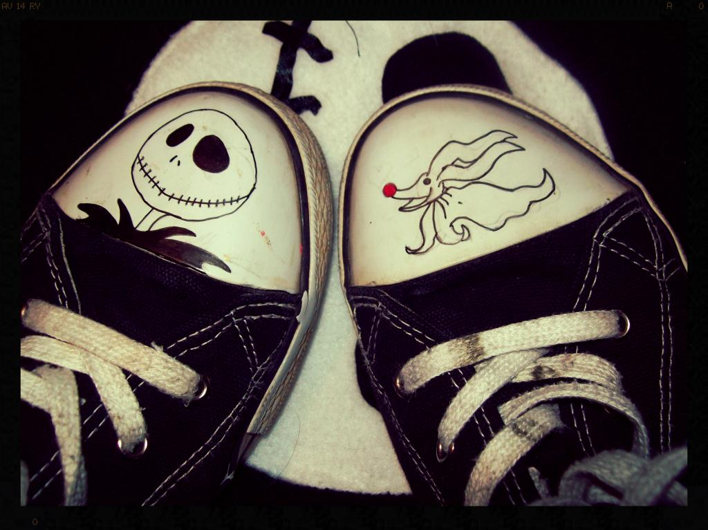 Nightmare Before Christmas Shoes by ffishy21 on DeviantArt