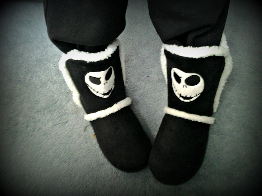 Nightmare Before Christmas Boots by ffishy21 on DeviantArt