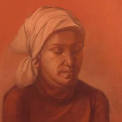 Portrait of a friend by PetraLAAI