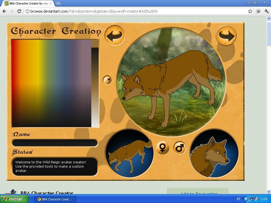 Toboe wolf creator by taiswolf456 on deviantart for 3d art maker online