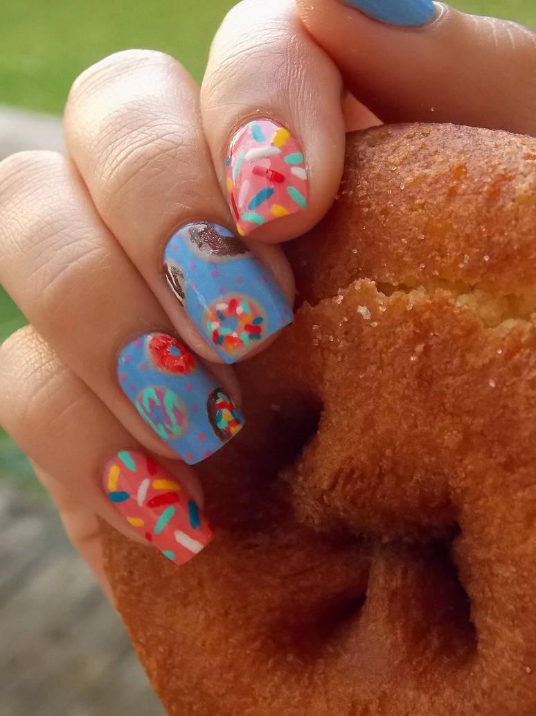 Donut and Sprinkle Nails by Velvet225 on DeviantArt