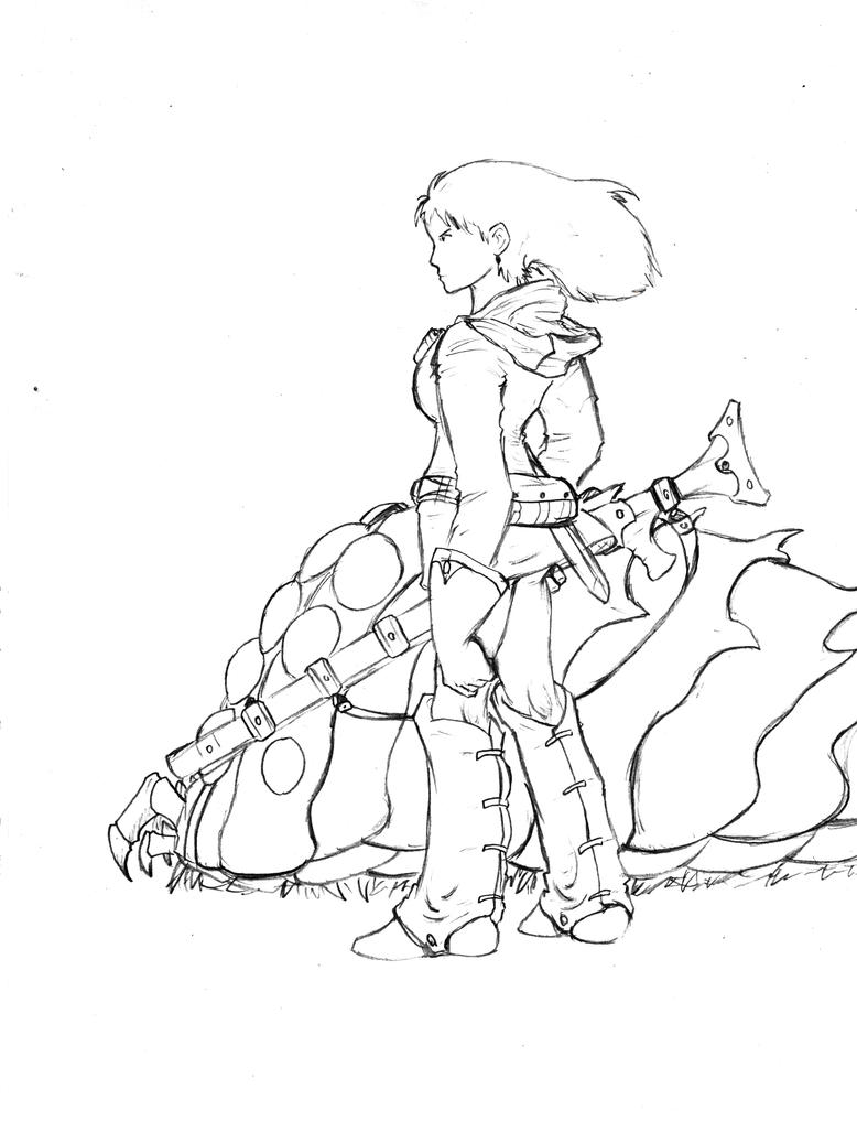 Valley Of The Wind Nausicaa Coloring Page