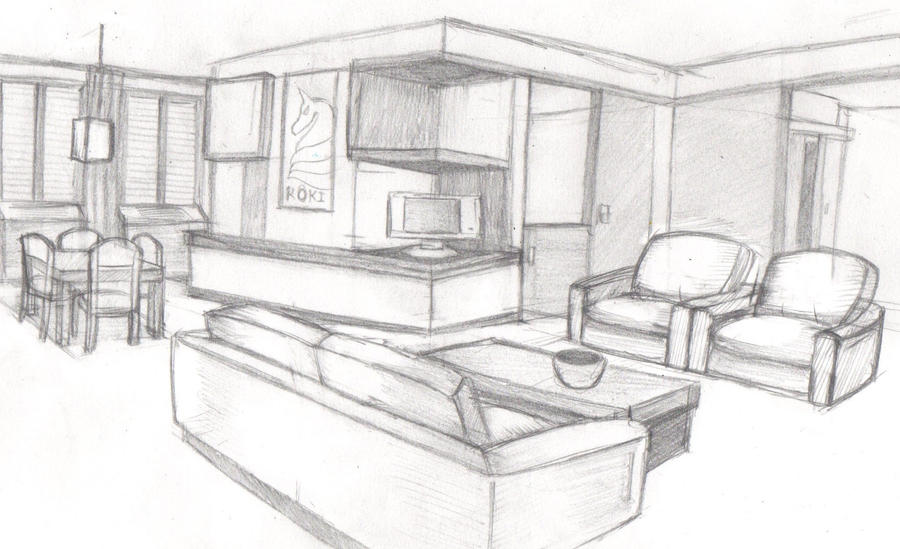 Room Sketch 1 By Ryuujashin On Deviantart