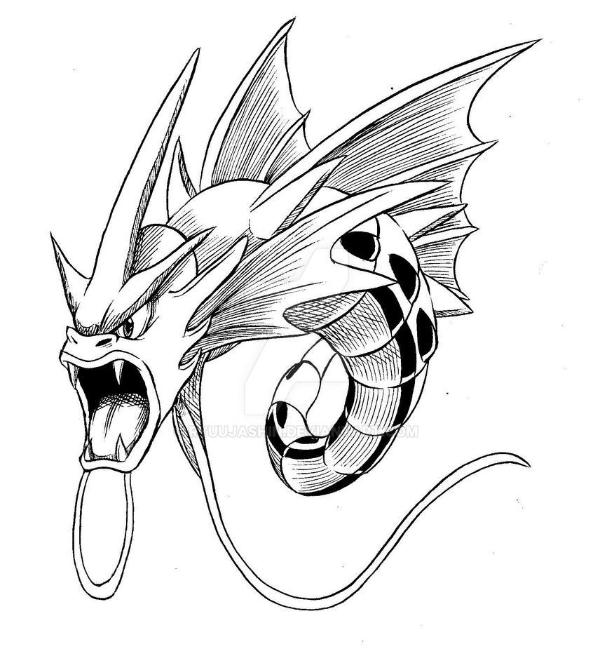 Pokemon Mega Gyarados Pages Coloring