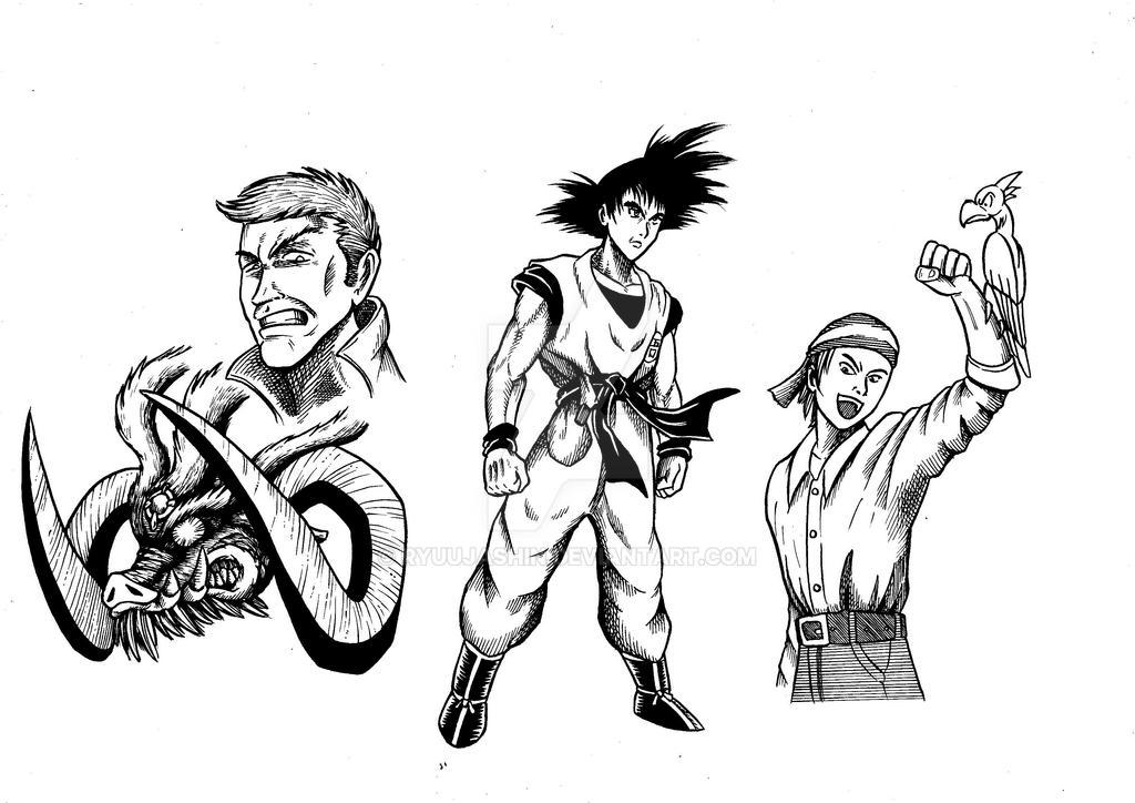 Random pen sketches by RyuuJashin