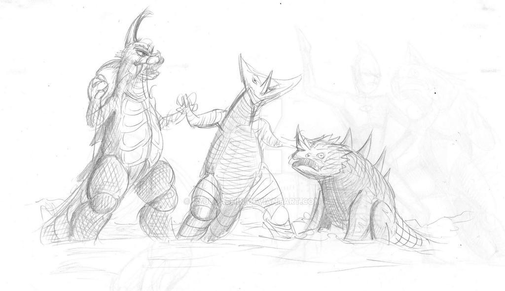 Ultra Monsters by RyuuJashin