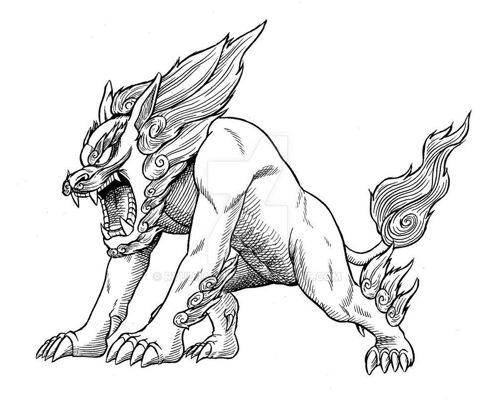Japanese Lion by RyuuJashin