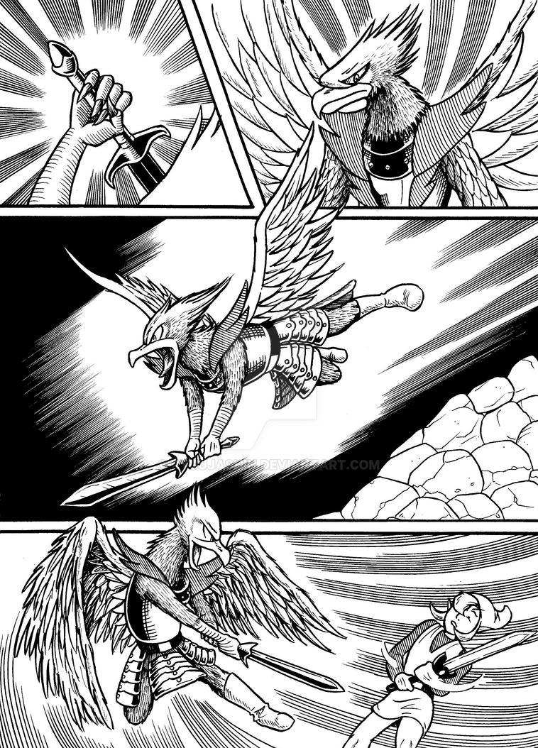 Legend of Zelda comic page study by RyuuJashin
