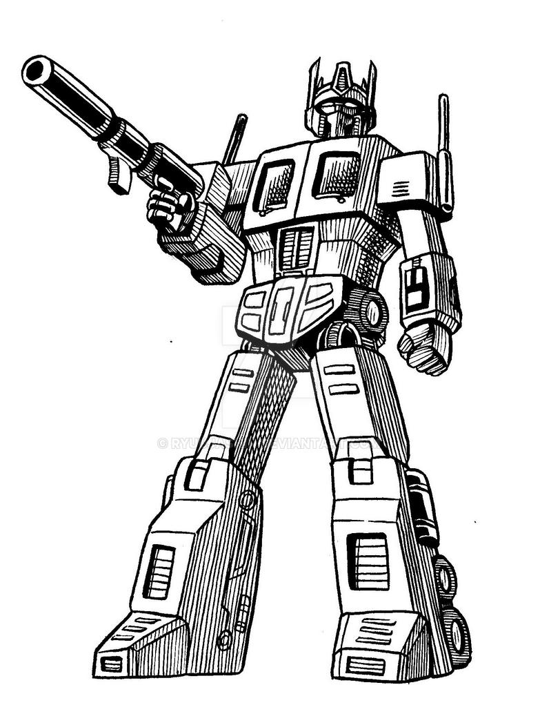 Optimus Prime Pen sketch by RyuuJashin