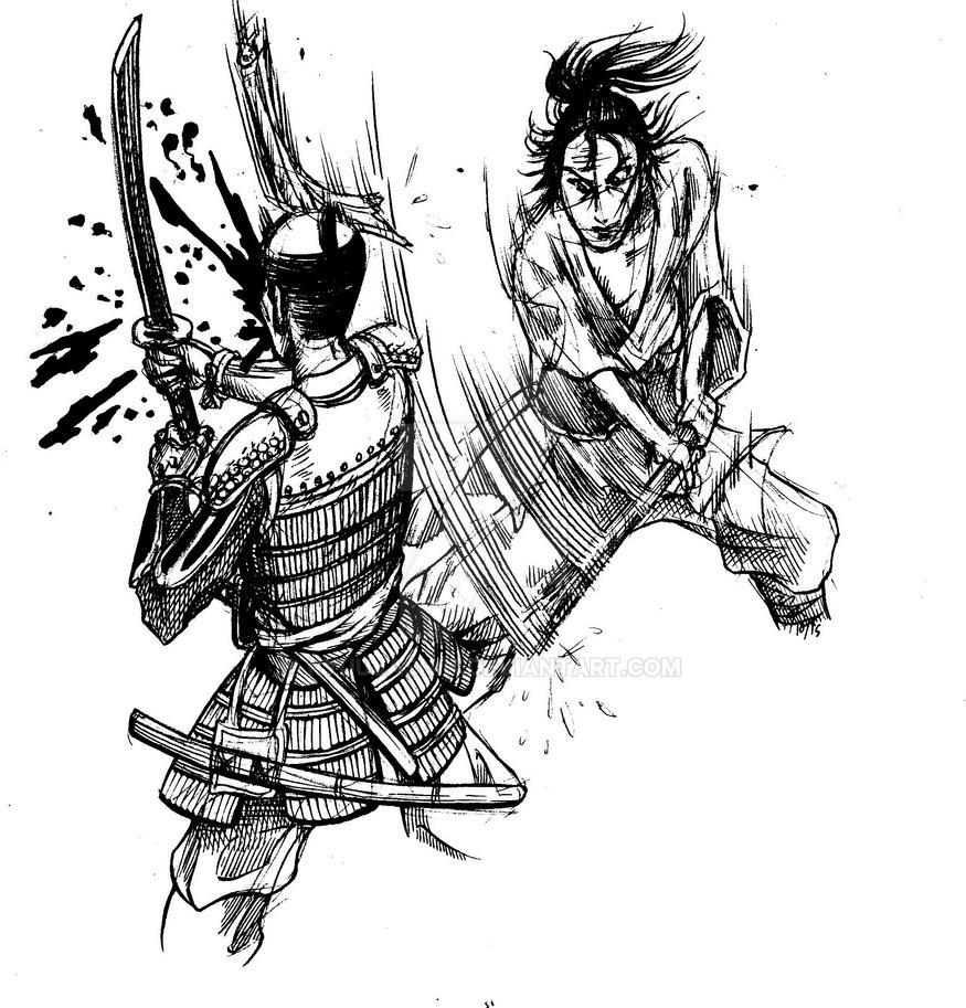 Vagabond fight scene by RyuuJashin