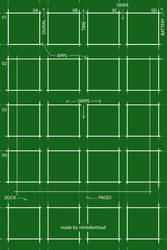 Greenprint - Flat iOS7 Wallpaper