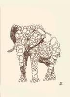 Animal typography - Elephant by techitch34