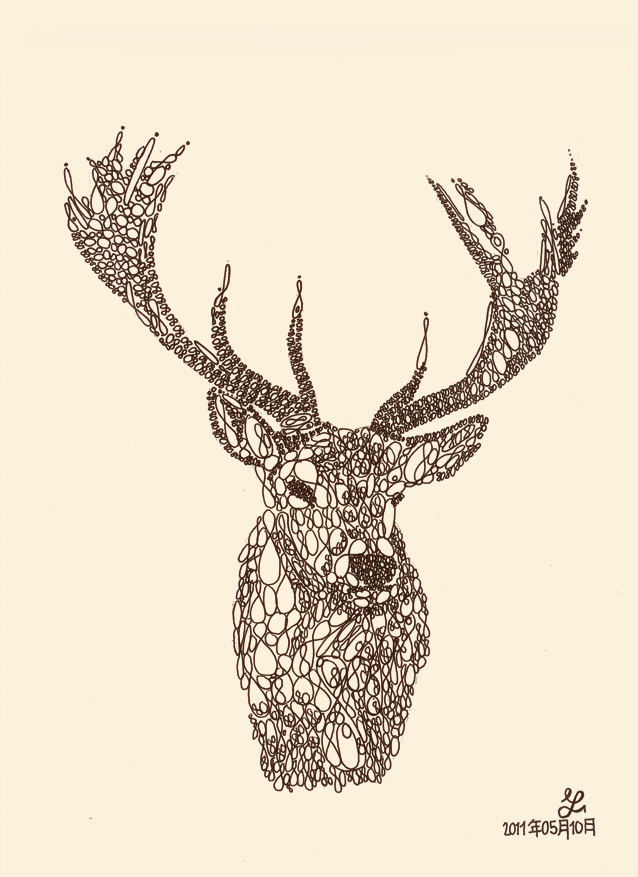 Animal typography - Stag by techitch34