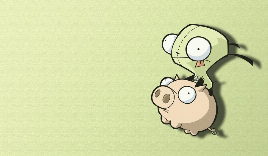 wallpaper invader zim gir piggy - photo #11