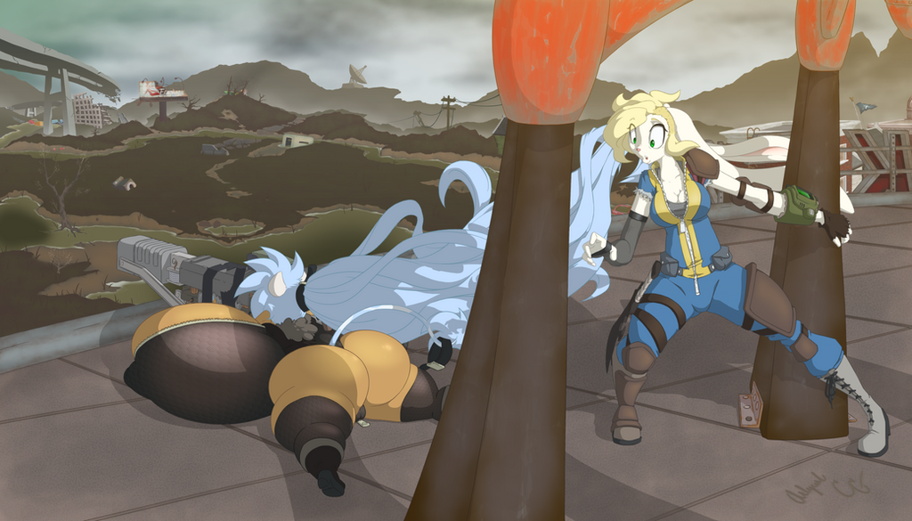 Fallout 4 - More Cow x Rabbit by Arlyurl