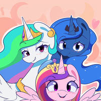 Pretty Pony Princesses by JoyfulInsanity