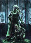Drow Slaver and Hound