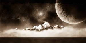 Space Mountain - sepia
