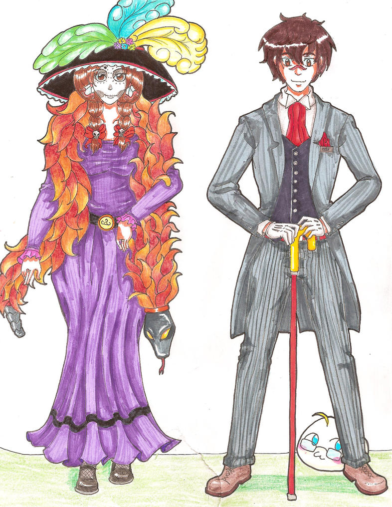 APH: Catrina y Catrin by sw33t-hobbit