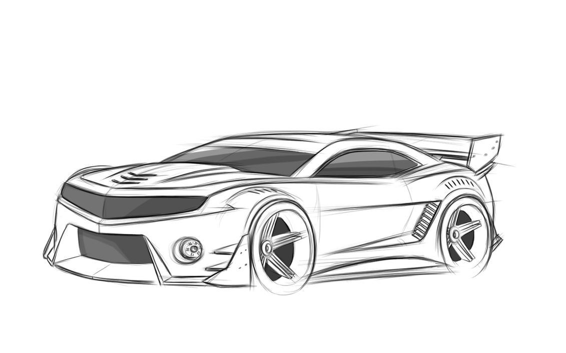 Chevrolet camaro раскраска