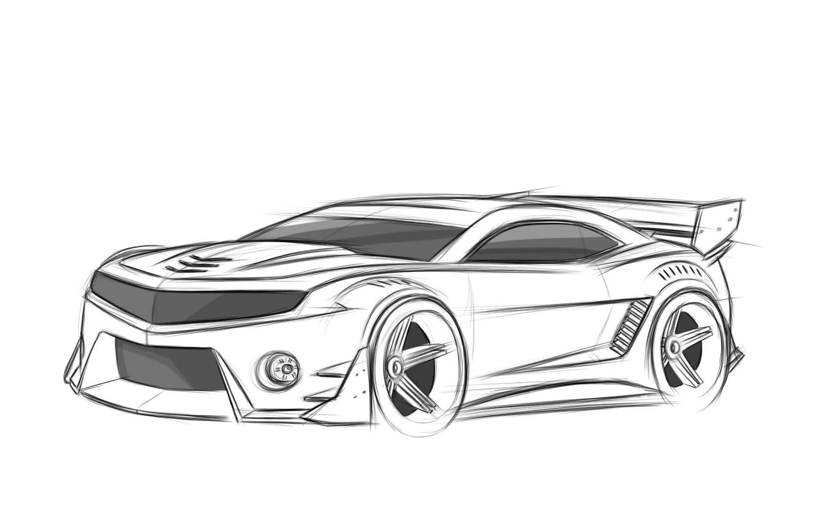 camaro outline drawing