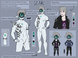Izak Reference Sheet by Nekomira