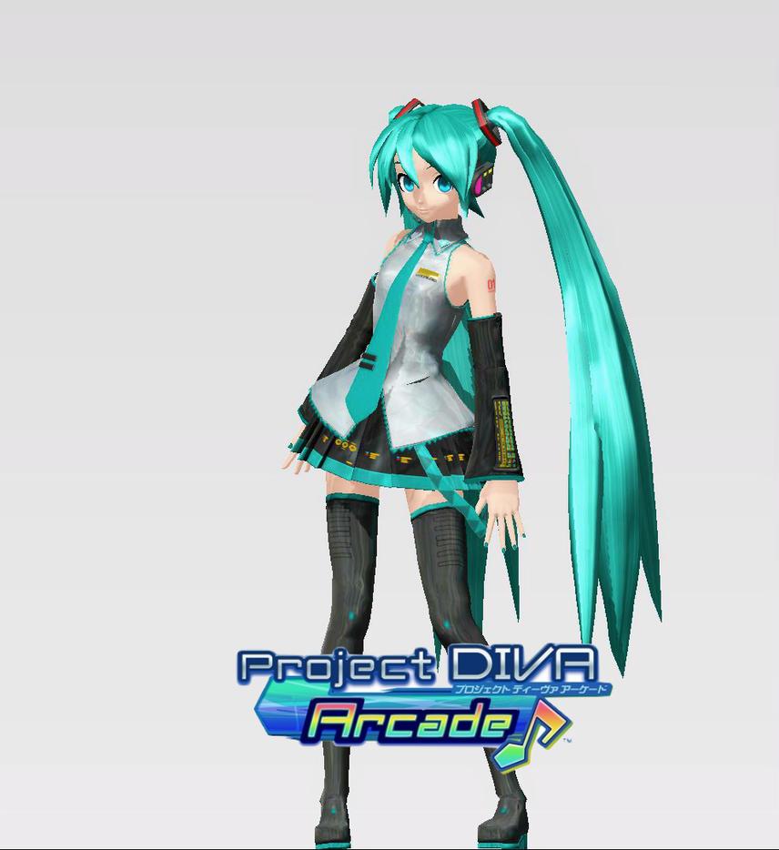 Hatsune Miku (Project Diva Arcade) by jrikkocabatasedit on ...