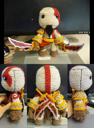 God of War Kratos Sackboy by magyss