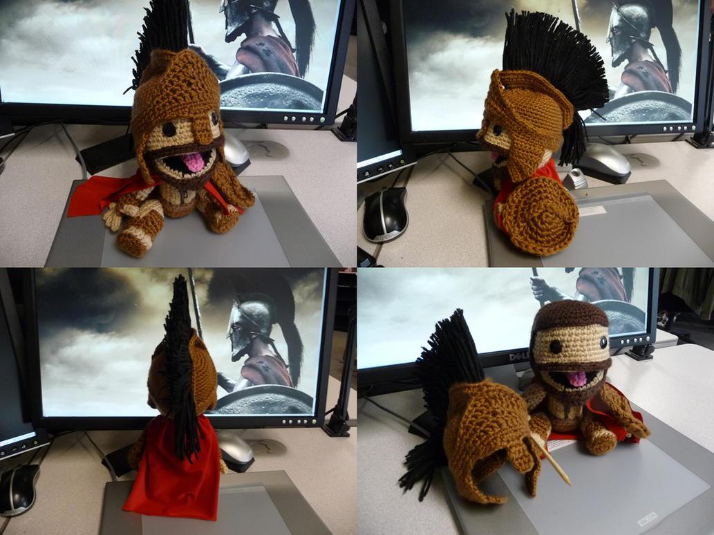 King Leonidas Spartan Sackboy by magyss